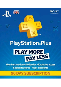 Playstation Plus 90 day UK
